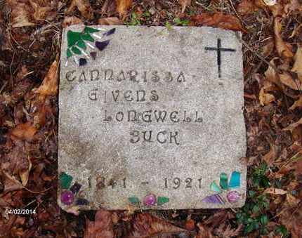 GIVENS BUCK, CANNARISSA - Wood County, West Virginia | CANNARISSA GIVENS BUCK - West Virginia Gravestone Photos