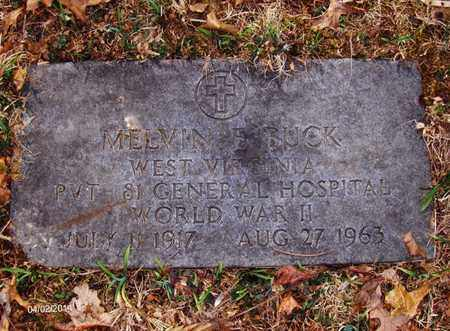 BUCK (VETERAN WWII), MELVIN E - Wood County, West Virginia | MELVIN E BUCK (VETERAN WWII) - West Virginia Gravestone Photos