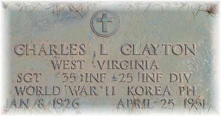 CLAYTON (VETERAN WWII KOR), CHARLES L - Wood County, West Virginia | CHARLES L CLAYTON (VETERAN WWII KOR) - West Virginia Gravestone Photos