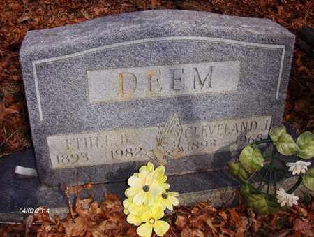 DAVIS DEEM, ETHEL BERNICE - Wood County, West Virginia | ETHEL BERNICE DAVIS DEEM - West Virginia Gravestone Photos