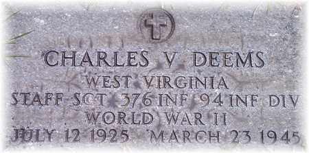 DEEMS (VETERAN WWII), CHARLES VERNON - Wood County, West Virginia | CHARLES VERNON DEEMS (VETERAN WWII) - West Virginia Gravestone Photos