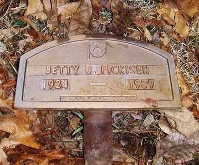 FICKISEN, BETTY JEAN - Wood County, West Virginia | BETTY JEAN FICKISEN - West Virginia Gravestone Photos