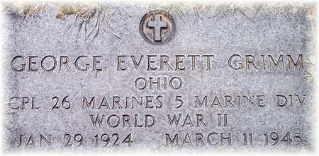 GRIMM (VETERAN WWII), GEORGE EVERETT - Wood County, West Virginia | GEORGE EVERETT GRIMM (VETERAN WWII) - West Virginia Gravestone Photos