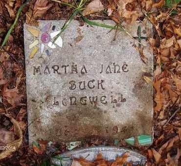 BUCK LONGWELL, MARTHA JANE - Wood County, West Virginia | MARTHA JANE BUCK LONGWELL - West Virginia Gravestone Photos