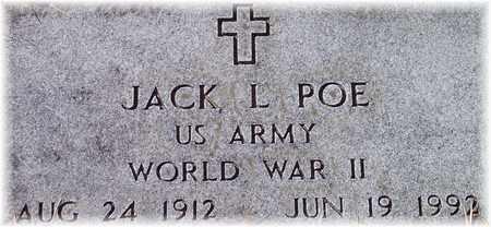 POE (VETERAN WWII), JACK L - Wood County, West Virginia   JACK L POE (VETERAN WWII) - West Virginia Gravestone Photos