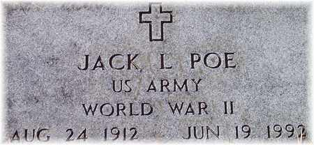 POE (VETERAN WWII), JACK L - Wood County, West Virginia | JACK L POE (VETERAN WWII) - West Virginia Gravestone Photos