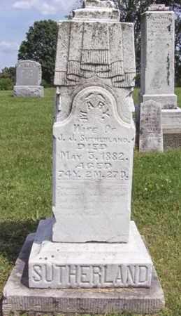 SUTHERLAND, MARY ANN - Wood County, West Virginia   MARY ANN SUTHERLAND - West Virginia Gravestone Photos